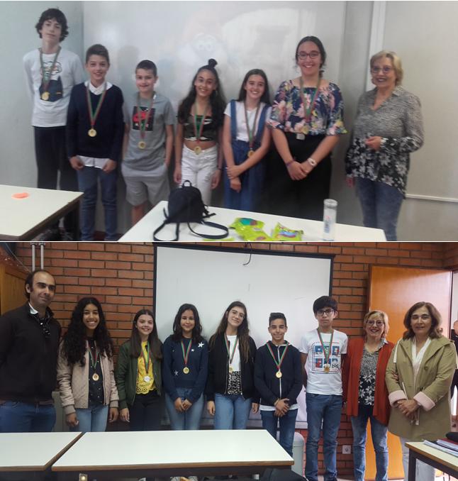Equipas Vencedoras do Science Paper 2.º e 3.º CEB - 6ºG e 8ºA